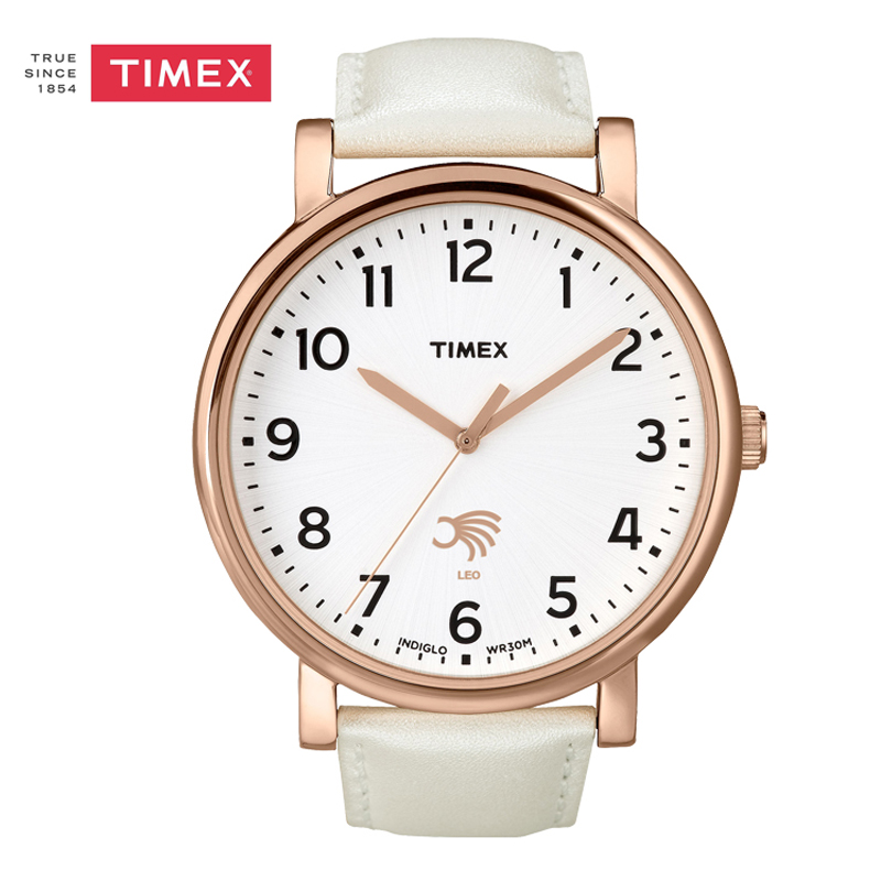 Timex Lovers' Watch LEO Constellation Quartz Analog Watch TLH761 Indiglo Leather Band Men Women TLH761 timex tw2p90300