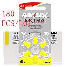 180 Uds Zinc aire Rayovac rendimiento Extra audífono baterías A10 10A 10 PR70 audífono batería A10 envío gratis