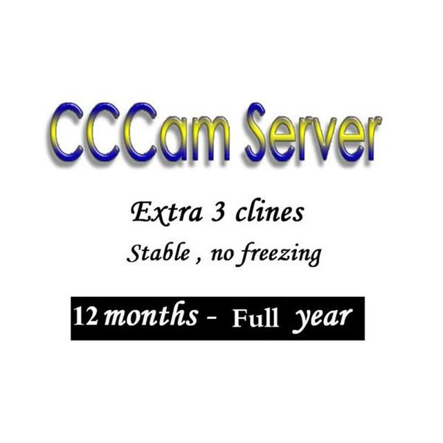 CCCAM Europe Cline 3 lines 6 lines For Spain uk french Germany Netherland Polsat for Satellte receiver decoder ziggo