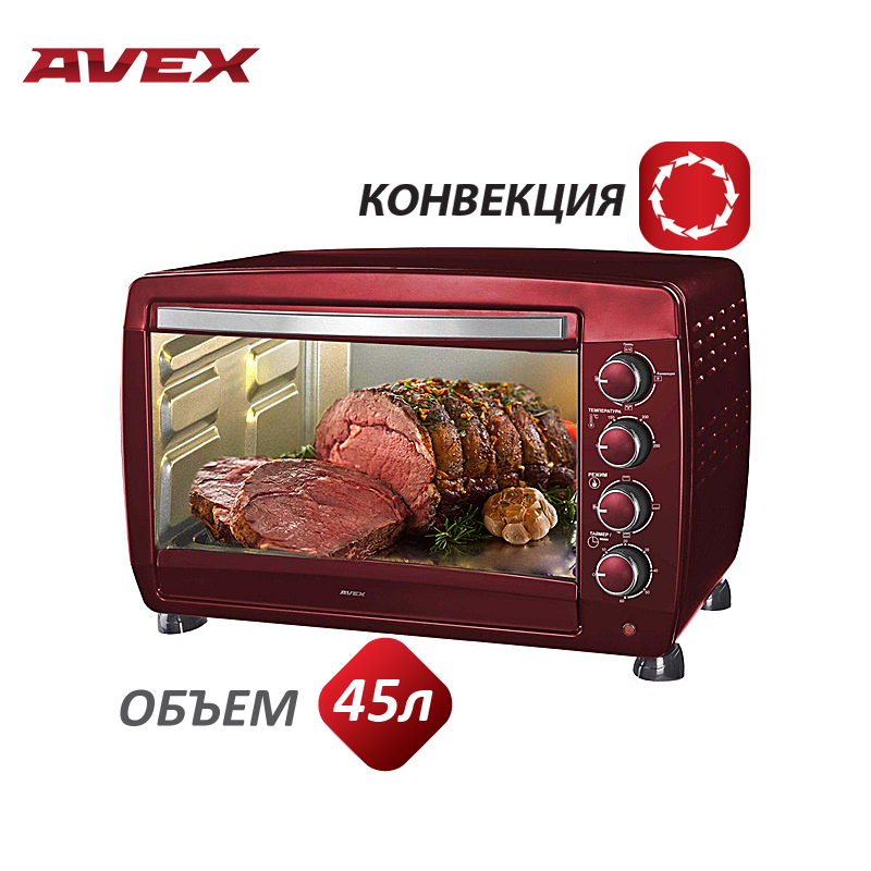Mini Electric Oven With Convection AVEX TR450MRCL