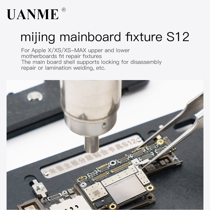 Купить с кэшбэком UANME iPX Lock Plate Repair Clamp For iPhone X XS XS-MAX Fixed Platform Maintenance Fixture Upper and Lower Welding of MainBoard