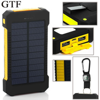 Solar Power Pack 20000mAh Polymer Super Thin And Large Capacity Camping Mobile Phone General Purpose Mobile