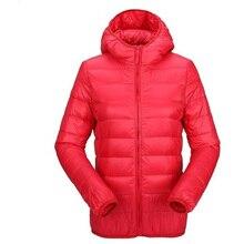 Winter Women Ultra Light Down Jacket Down Hooded Jackets Long Sleeve Warm Slim Coat Parka Female Solid Portable Outwear