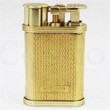 Guevara Novelty Vintage Retro Windproof Cigar Lighter Antique Copper Cigarette Lighters Gasoline 1115 for Men smoking