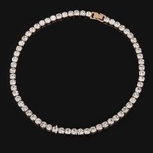 2017 New Elegant Dazzling CZ Diamonds Choker Necklace Luxury Tennis Chain Necklace For Women Jewelry Gift