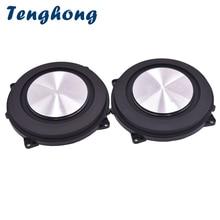 Tenghong 2 stücke 4 Zoll Bass Heizkörper Gebürstet Aluminium Hilfs Lautsprecher Bass Vibration Membran Woofer Passive Lautsprecher DIY 120 MM