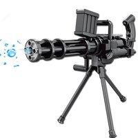 Kids Toy Gun Paintball Gun Gatling Soft Bullet Gun Plastic Toys Infrared CS Game Shooting Crystal