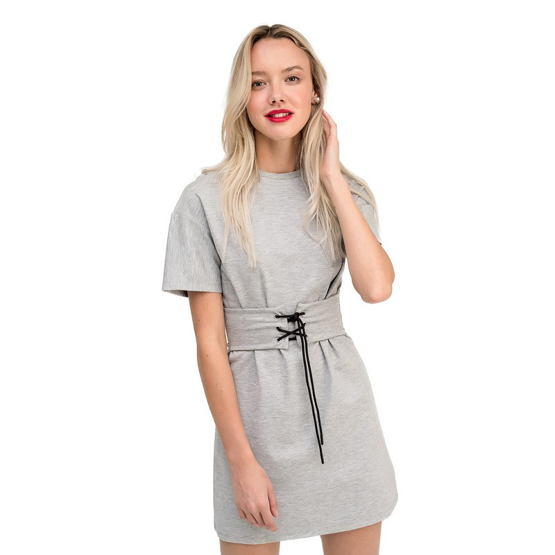 Dresses dress befree for female  half sleeve women clothes apparel  casual spring 1811344566-38 TmallFS exaggerate bell sleeve buttoned keyhole dress