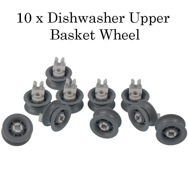 8 x Dishwasher Top Upper Basket Rail Wheels Set For Bosch Neff /& Siemens White