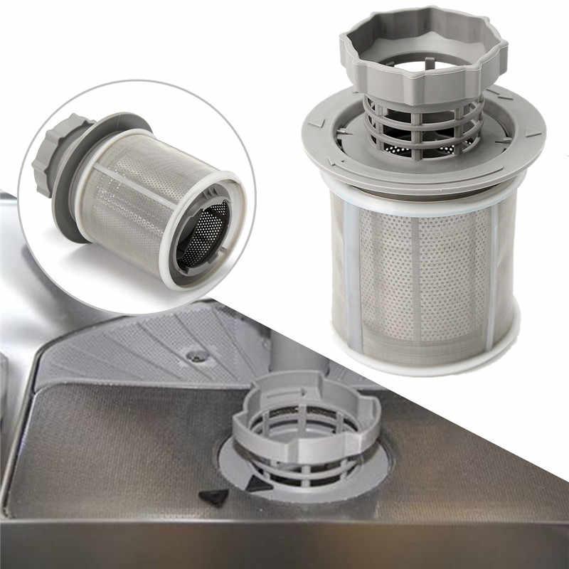 2 bagian Mesin Pencuci Piring Mesh Filter Set Abu-abu PP + Stainless Steel Untuk Bosch Mesin Cuci Piring 427903 170740 Series Pengganti untuk Mesin Pencuci Piring