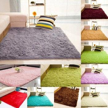 Alfombra de felpa suave peluda para sala de estar, dormitorio, decoración del...