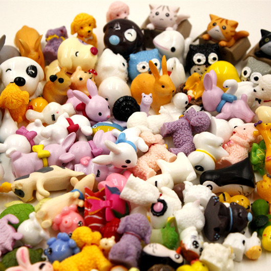 50pcs Animals Mix styles Miniature Garden Ornaments Micro landscape toys mini decoration DIY Mini Fairy tale world CJ270|Figurines & Miniatures| |  - title=