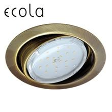 Ecola GX53 FT9073 светильник встраиваемый поворотный для ламп GX53 40x120 мм