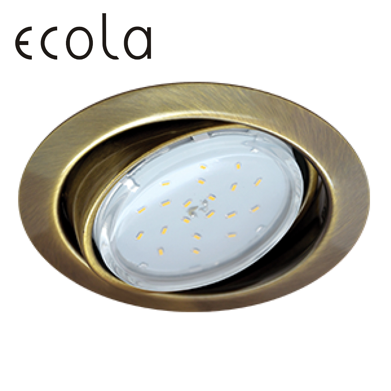 Ecola GX53 FT9073 Recessed Ceiling Downlight Round Spotlight Hole Spot lamp GX53 Sockets 40x120mm jtron 10050100w round hole ndfeb magnet silver 2 pcs