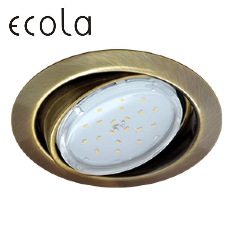 Ecola GX53 FT9073 Recessed Ceiling Downlight Round Spotlight Hole Spot lamp GX53 Sockets 40x120mm|Ceiling Lights| |  -