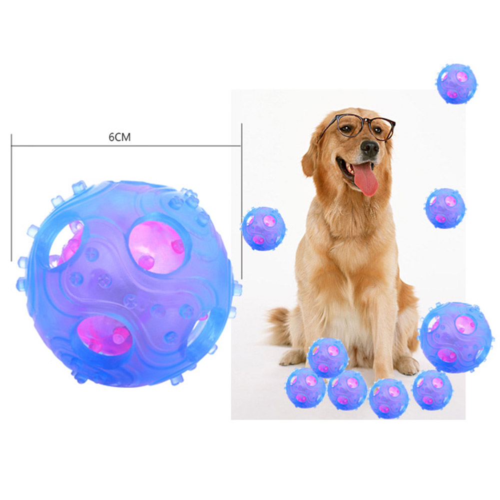 Pet Dog Cat TPR Hollow leaking nail ball pet bite Toy Puppy Bite Rubber Interactive Training Toys Puppy Dog Toys Ball 2 colors