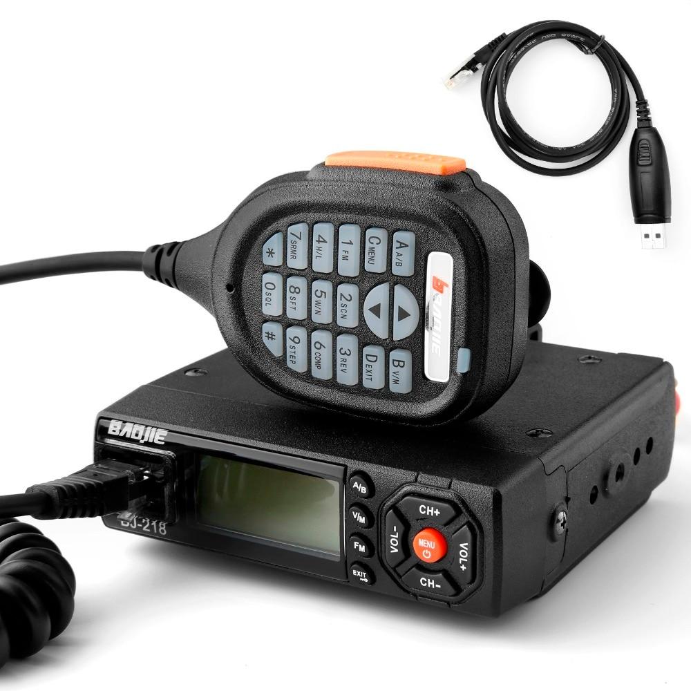 Baojie BJ 218 Mini Auto Mobile Ricetrasmettitore Dual Band VHF UHF FM Vericle Bus Auto Cb Comunicatore Radio Walkie Talkie 10 km