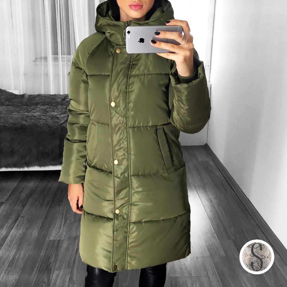 Зимняя длинная куртка оливкового цвета всего за 1600 руб с Алиэкспресс