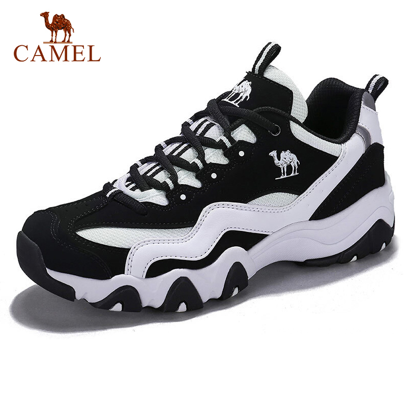 CAMEL Women Sport Shoes Fashion Black White Anti skid Wear resistant Running Sports Sneaker Shoes For