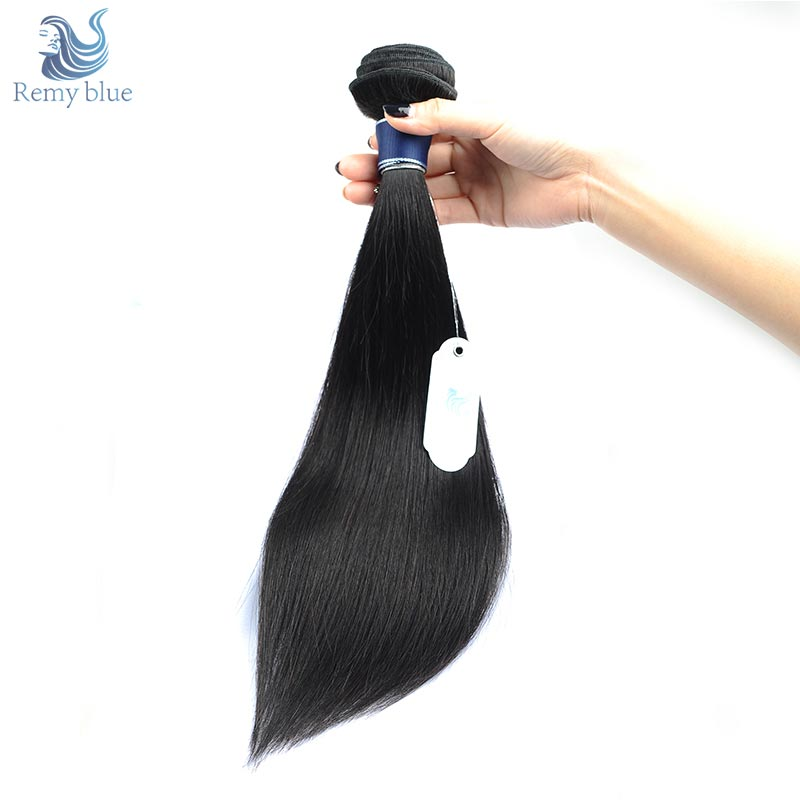 Remy Blue Hair 1 Bundle Raw Indian Straight Hair Natural Color Remy Human Hair Weave Bundle Deals 10 26 Inches No Tangle No Shed