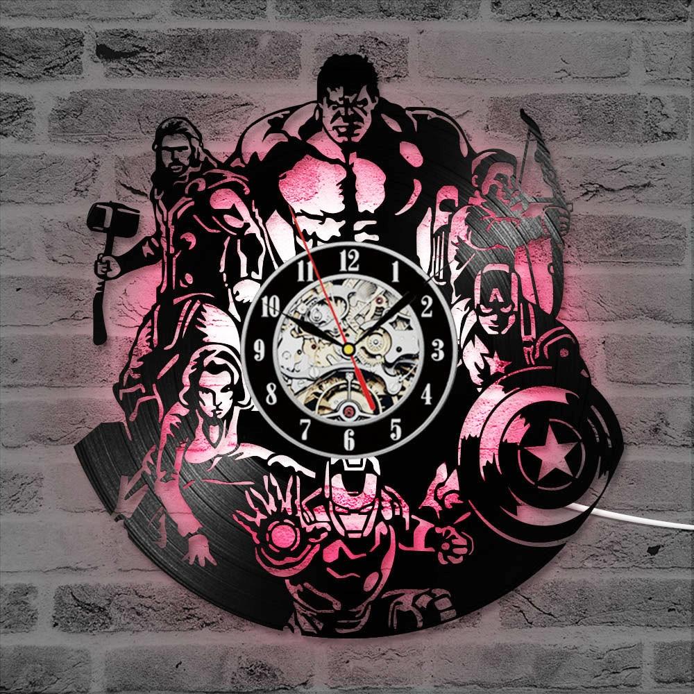 The Avengers Record  Wall Clock – Iron Man Captain America ThorSupermanSuperman