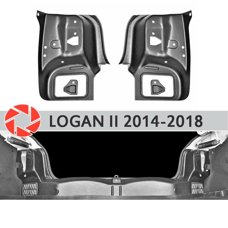 Placa de luz trasera interior del maletero para las cubiertas laterales de Renault 2014-2018 en el maletero accesorios de protección estilo de coche decoración