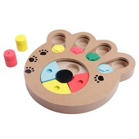 Dog Toy Interactive Wooden Dog Toys Food Feeder Claw Bone Design Educational Dog Puzzle Toys IQ