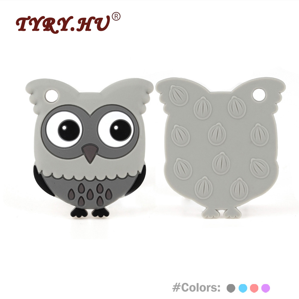 TYRY.HU Owl Shaped Baby Teethers 1Pc Baby Teething Silicone Beads BPA - Kūdikio priežiūra