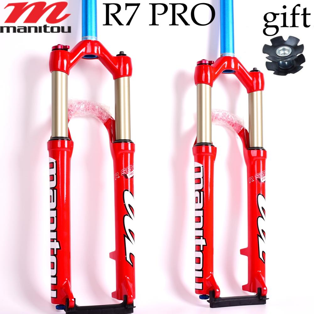 MANITOU suspension Bicycle Fork R7 Pro 26 inches Mountain MTB Bike Fork red Pk SR SUNTOUR