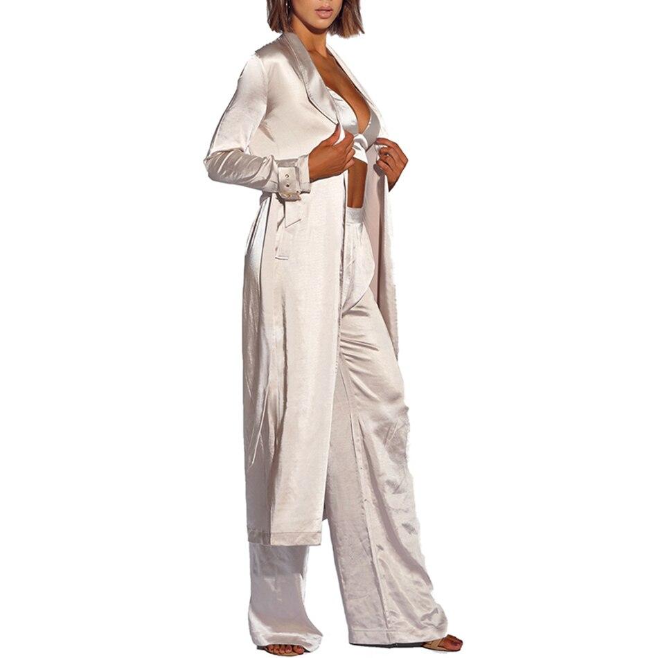 Blanc Pantalon Trois Robe Top Arrivent White 3 Manteau 2019 Robes Club amp; Maxi Celebrity Pièces Ensemble Femmes Nouveau Party Sexy D'été Adyce wzqRO4Zq