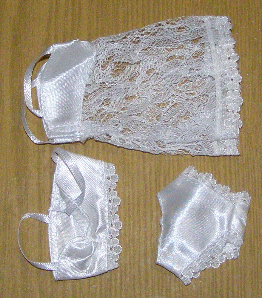 3 Pcs =1 Set Sexy Pajamas Lingerie Lace Costumes + Bra + Underwear Dress Clothes for Barbie Doll Clothes Accessories Girl Toy