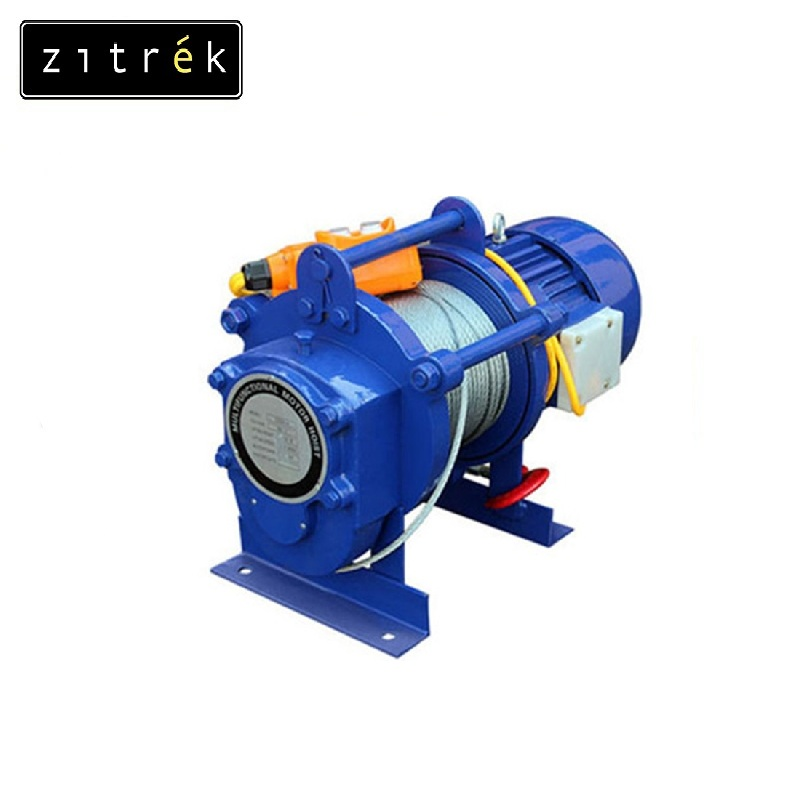 Electric winch Zitrek KCD-500 / 1000 / 220 v rope 60 m Electric hoist Lifting gear Complete set of lifting devices Cable hoist цена