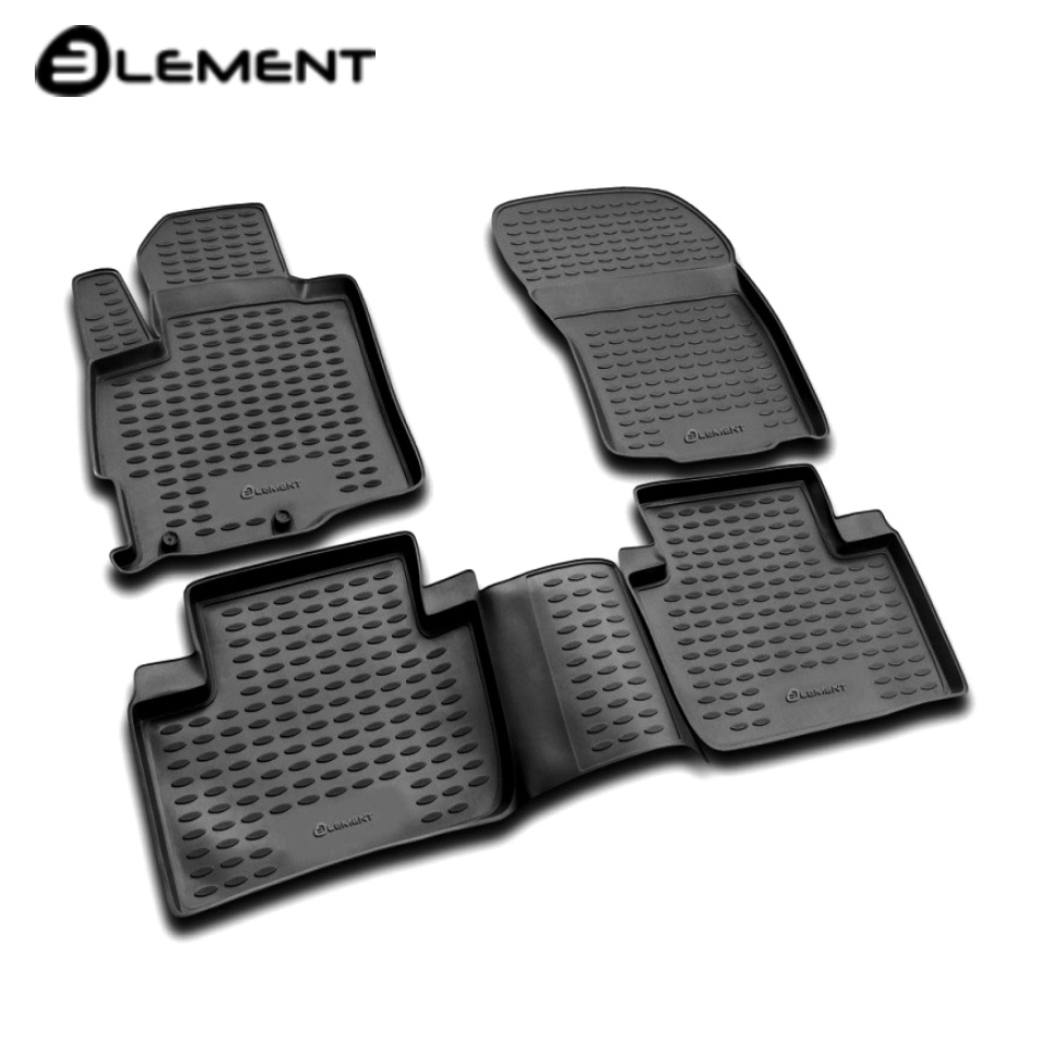 For Mitsubishi Outlander XL 2007-2012 floor mats into saloon 4 pcs/set Element NLC3514210 fast shipping 2pcs set led marker angel eyes kit for bmw e90 saloon e91 touring no canbus error