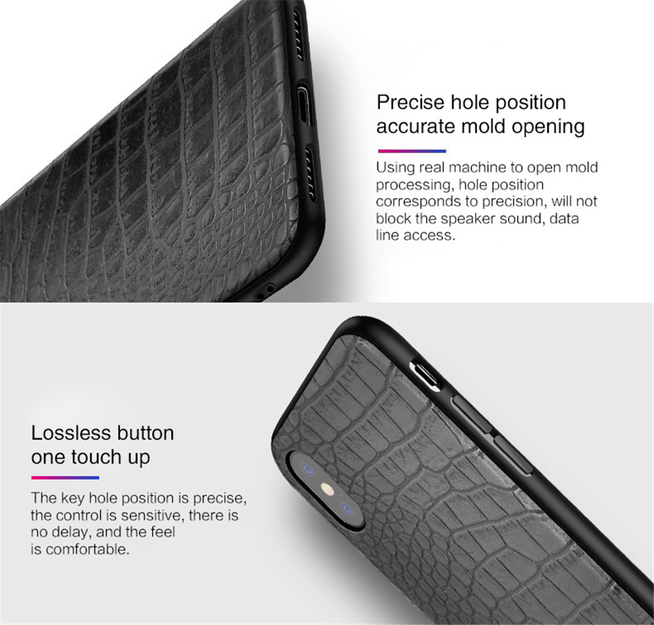 Retro Vintage Phone Bag Case For Iphone X 6 6s 7 7s 8 Plus Crocodile Snake Skin Pattern Soft Protective Cover Shell For iphoneX (5)