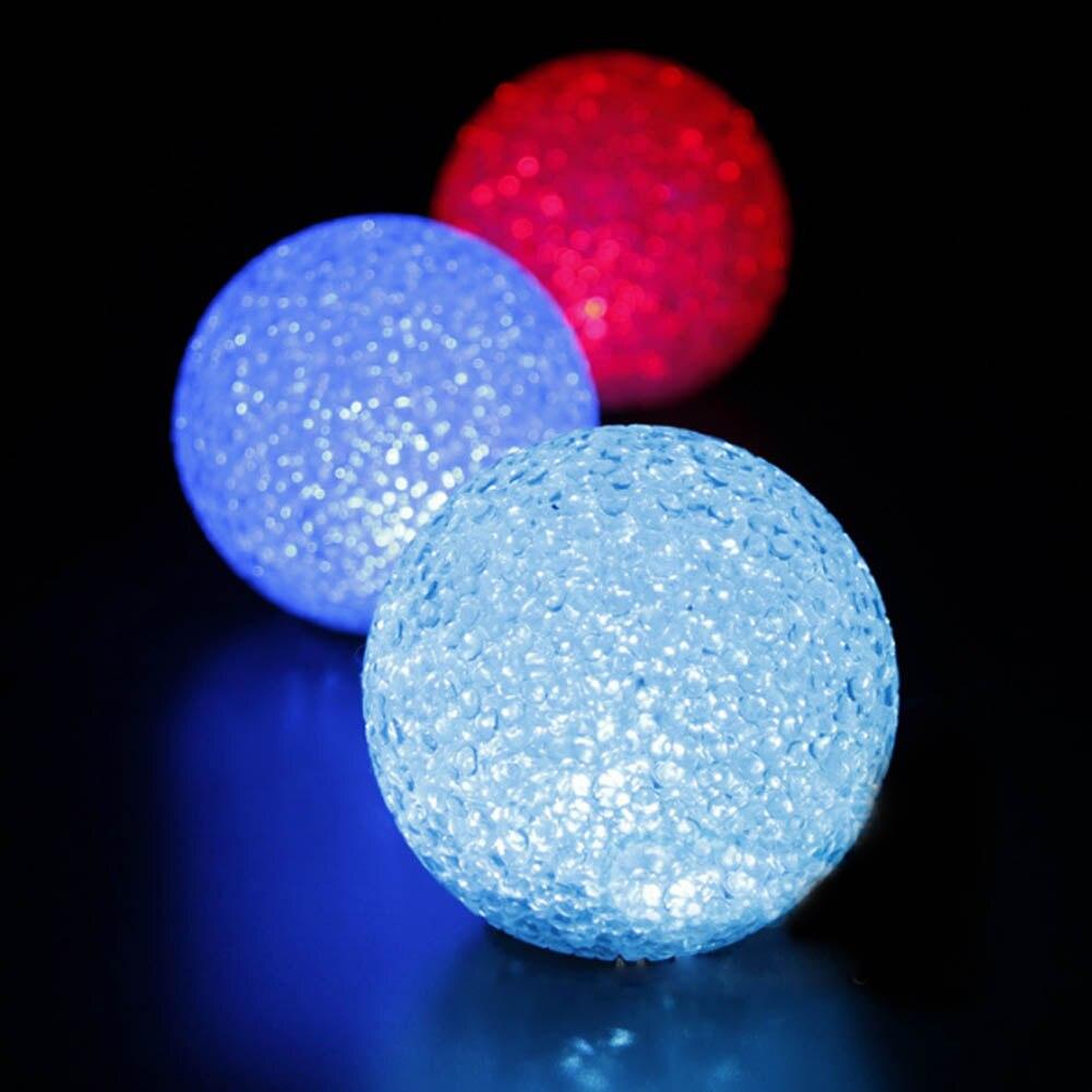 Colorful Changing Crystal Ball LED Nightlight Lamp Magic PVC Led Flashing Light Toys for Kids Children 3 sizes