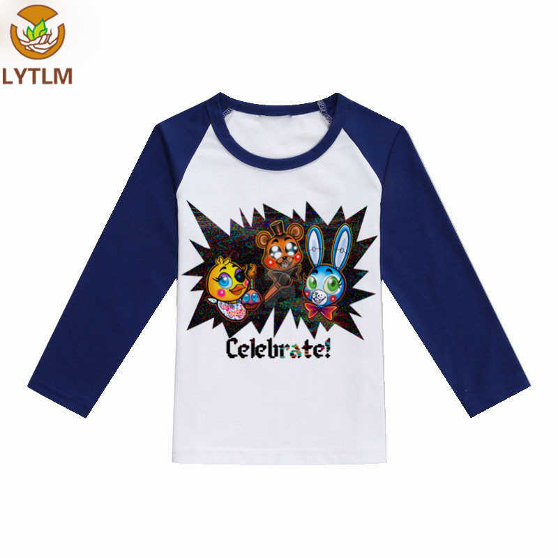 b29e530137bd0 Aliexpress.com   Buy LYTLM Children Long Sleeve Cotton Shirt Five Nights at  Freddy Shirts Kids FNAF Bobo Choses Kids Clothes vetement enfant fille from  ...