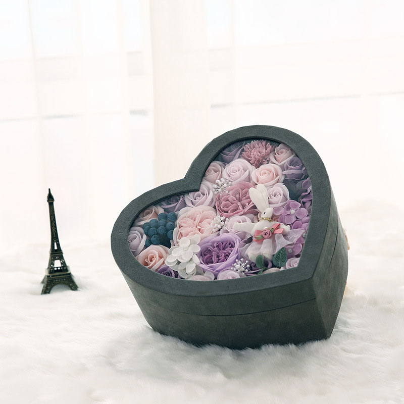 Best Gift For New Wife Part - 47: New Heart Shaped Flower Box Romantic Best Gift Box For Girlfriend Wife Home  Decoration Flower Rose Display Case With Cover-in Storage Boxes U0026 Bins From  Home ...
