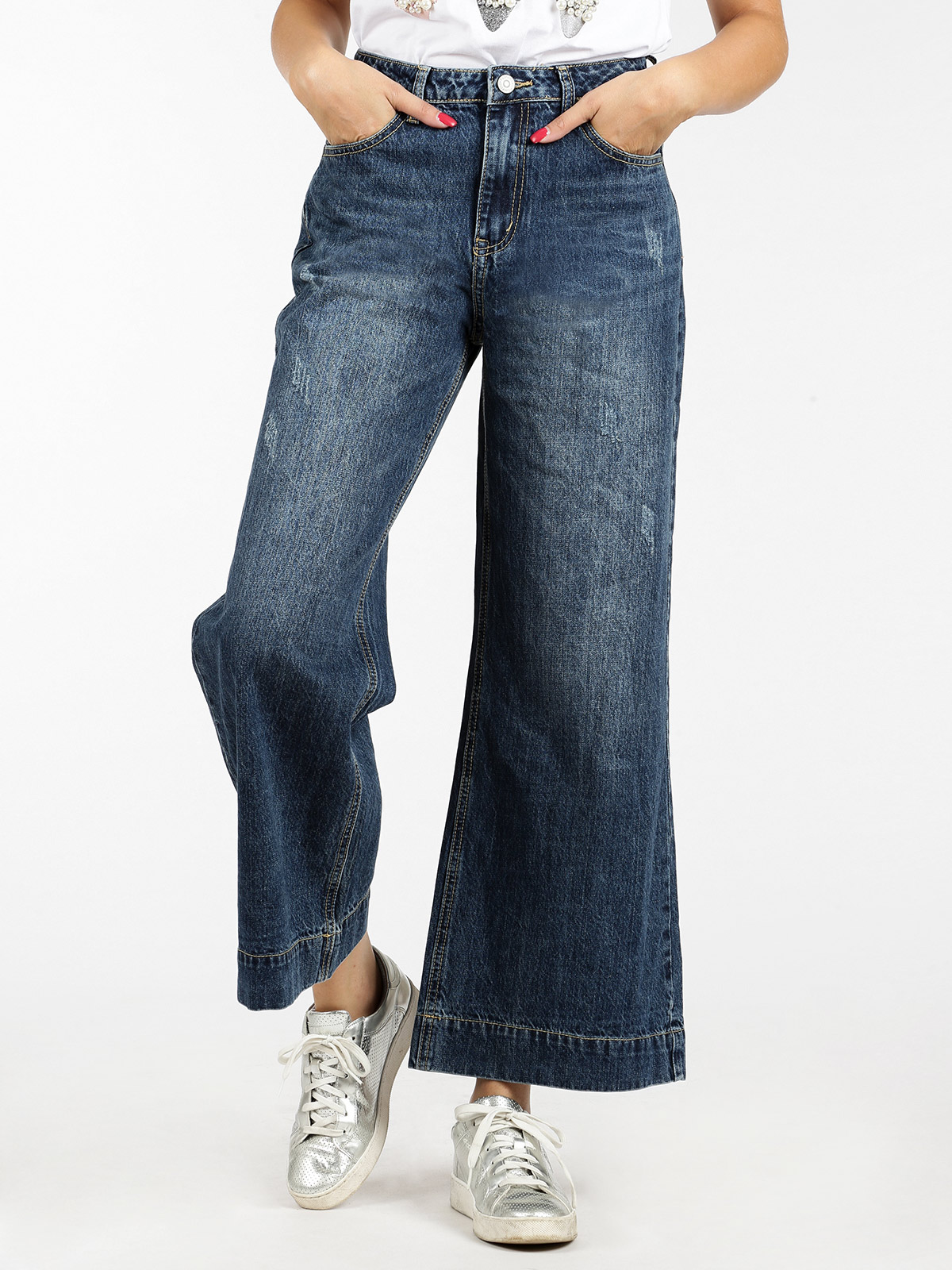 Loose Jeans High Waist Push Up