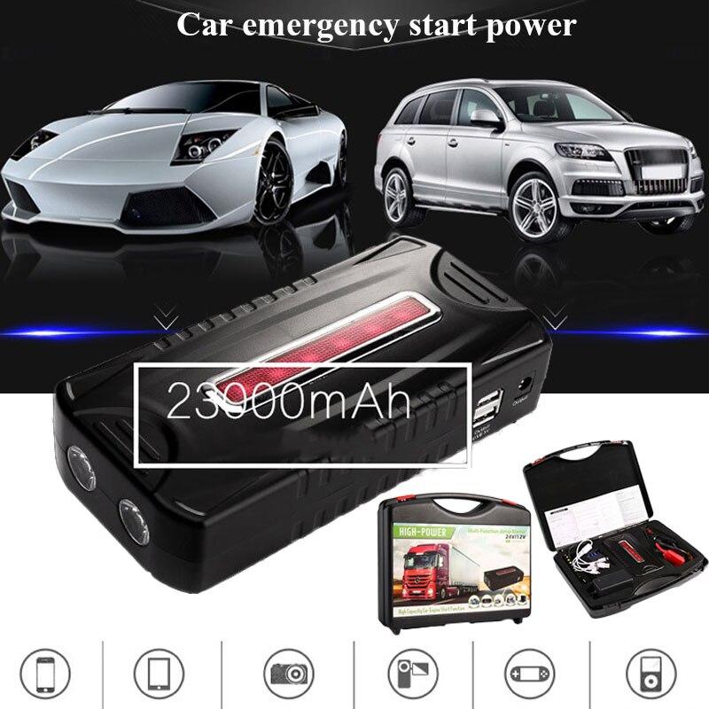 800A 23000 mah multifonction démarreur de saut de voiture de secours Portable batterie externe chargeur de voiture Booster de batterie pour les voitures de démarrage dispositif
