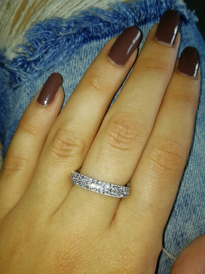 Glitzy Band Ring with Genuine CZ Crystals photo review