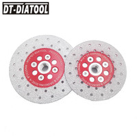 2pcs Double Sided Vacuum Brazed Diamond Cutting Disc Grinding Wheel M14 Thread Saw Blade Stone Marble