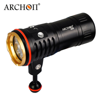 ARCHON DM20 Aluminum Waterproof U2 5200 LM 4 Color Light Tint Diving LED Flashlight Torch+18650 Battery