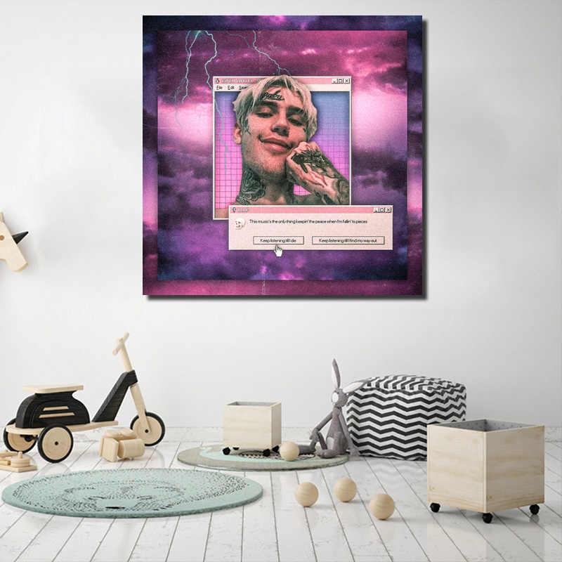 Lil Peep Aesthetic Edit Wallpaper Canvas Posters Prints Wall Art