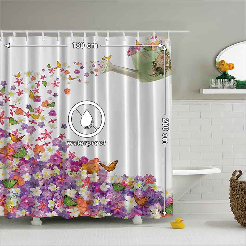Unusual Pansy Shower Curtain Pictures Inspiration - Bathtub for ...