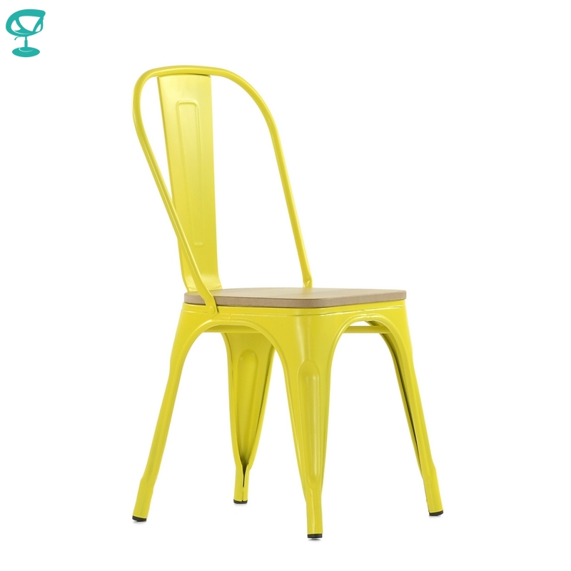 N236WoodRAL Barneo N-236 Yellow Metal Wood Light Seat Kitchen Interior Stool Chair Kitchen Furniture Free Shipping In Russia