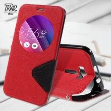 Телефон Случаях для Asus zenfone 2 ZE601KL РЕВ КОРЕЯ Дневник Просмотр окно Кожаный Чехол для Asus Zenfone 2 Лазерная ZE601KL 6.0-inch