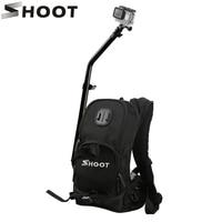 New Motorcycle Bicycle Selfie Backpack for GoPro Hero 5 4 Session Yi 4K Go Pro Hero 3 Backpack SJCAM SJ4000 Camera Pole Stick