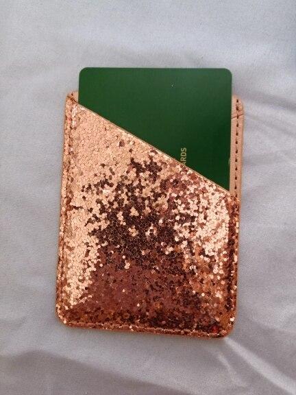 Lederen lovertjes kaarthouder tas Mini mobiele telefoon geval Credit ID kaarthouders Mode voor vrouwen wijzigen dames portemonnee portemonnee zakken photo review
