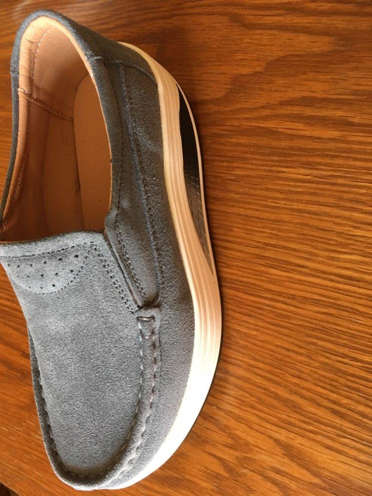 STQ/2018 Осенняя женская обувь на платформе, повседневная обувь на толстом каблуке, кожаная замшевая обувь, женские слипоны на плоской подошве, Мокасины с толстой мягкой подошвой, 523