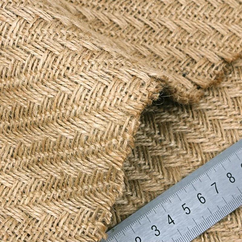 100/% Natural Burlap Linen cloth COARSE Juta fabric crafts Vintage quilting